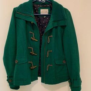 DELIA's Emerald Green Coat - Very Warm!
